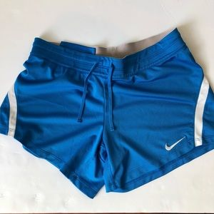 Nike Blue and White Dri-fit Shorts